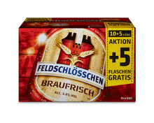 Feldschlösschen Bier Braufrisch, 10 + 5 x 33 cl