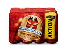 Feldschlösschen Bier Braufrisch, Dosen, 12 x 50 cl