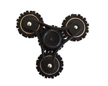 Finger Spinner 3 Wheely Black