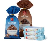 Frey-Coaties und -Schokoladenriegel, UTZ