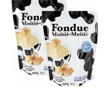 Frisch fixfertig Fondue Moitié-Moitié im Duo-Pack