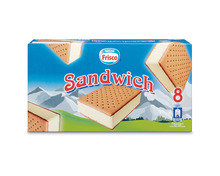 Frisco Sandwich Glace Vanille, 8 x 75 ml
