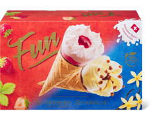 Fun Cornet Vanille und Erdbeer in Sonderpackung