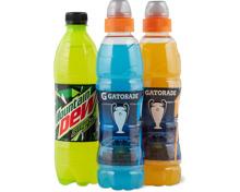 Gesamtes Gatorade- und Mountain Dew-Sortiment