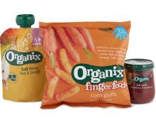 Gesamtes Organix Babynahrungs-Sortiment