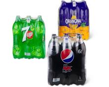 Gesamtes Pepsi-, 7up-, Orangina-, Schwip Schwap- und Oasis-Sortiment