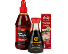 Gesamtes Thai Kitchen-, Saitaku- und Kikkoman-Sortiment