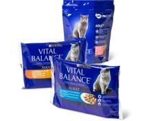 Gesamtes Vital Balance Katzenfutter-Sortiment