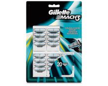 Gillette Mach3 Ersatzklingen, 20 Stück