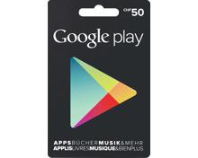 Google Play-Geschenkkarte CHF 50.-