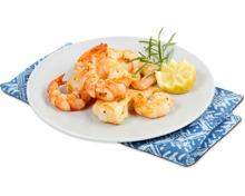 Grill mi Crevetten mariniert mit Rosmarin, Tail-off, roh, ASC