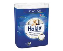 Hakle Toilettenpapier 4-lagig verwöhnende Sauberkeit 24 Rollen
