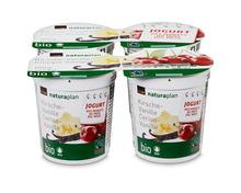 Jogurt des Monats: Coop Naturaplan Bio-Jogurt Kirsche-Vanille, Fairtrade Max Havelaar, 4 x 150 g