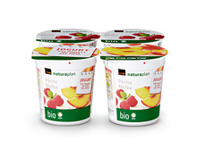 Jogurt des Monats: Coop Naturaplan Bio-Jogurt Pêche Melba, 4 x 150 g