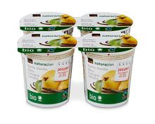 Jogurt des Monats: Coop Naturaplan Bio-Jogurt Quitte-Vanille, Fairtrade Max Havelaar, 4 x 150 g