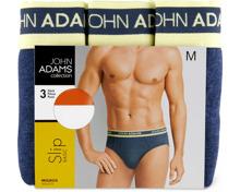 John Adams Herren-Slip oder -Short im 3er-Pack, 3er-Pack