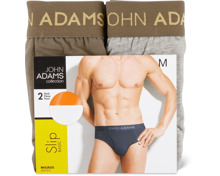 John Adams Herren-Slip oder -Short im Duo-Pack
