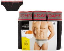 John Adams Herren-Slip oder -Shortsim 3er-Pack