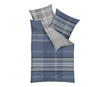 Kaeppel Bettwäsche mit blau-grauem Karomuster