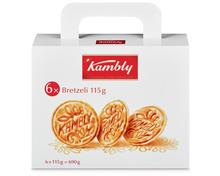 Kambly Bretzeli Koffer, 6 x 115 g, Multipack