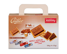 Kambly Cailler Petit Beurre Koffer, 4 x 125 g, Multipack