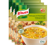 Knorr Fidelisuppe mit Fleischkügeli