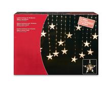 Lichtervorhang mit 18 Sternen