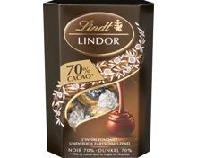 Lindor Noir 70% Cornet