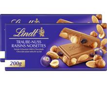 Lindt Tafelschokolade Traube-Nuss