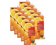 M-Classic Orangensaft, Fairtrade, im 10er-Pack, 10 x 1 Liter