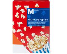 M-Classic- und Léger-Microwave-Popcorn im 10er-Pack
