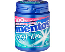 Mentos Gum Bottle White