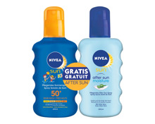 Nivea Sun Pack Protect & Moist. Kids Spray SF50 + Apres Sun, je 200 ml