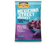 Old el Paso Mexicana Street Market Tortilla Chips Blue Corn, 150 g