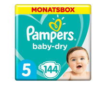 Pampers Baby Dry Gr. 5, 11-16 kg, Monatsbox, 144 Windeln