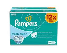Pampers Feuchttücher Fresh Clean, 12x 64 Stk.