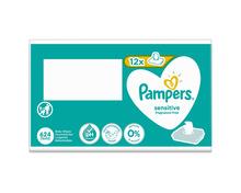 Pampers Feuchttücher Sensitive, 12 x 52 Stück