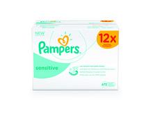 Pampers Feuchttücher Sensitive, 12 x 56 Stück, Multipack