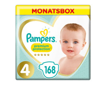 Pampers Gr. 4 Premium Protection Maxi 9-14 kg Monatsbox 168er