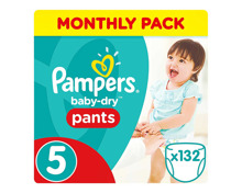 Pampers Gr. 5 Baby Dry Pants Junior 12-17 kg Monatsbox 132er