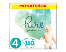 Pampers Pure Protection Gr. 4 Maxi 9-14 kg Monatsbox 160er