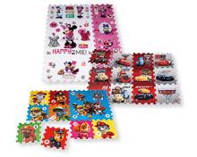 PAW PATROL/DISNEY MINNIE/CARS Kinder-Puzzlematte, 12-teilig