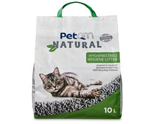 PetQM Natural Hygienestreu, 100% Recycling-Cellulose, 10 Liter