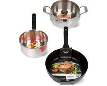 Prima-, Gastro-, Titan- und Deluxe-Kochgeschirr-Serie der Marke Cucina & Tavola