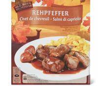 Rehpfeffer gekocht