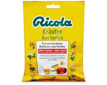 Ricola Kräuter-Bonbons, ohne Zucker, 3 x 125 g, Trio