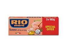 Rio Mare Thunfisch in Olivenöl, 3 x 160 g, Trio