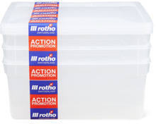 Rotho Clearbox im 3er-Pack