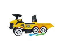 Rutscher Traktor mit Anhänger, gelb
