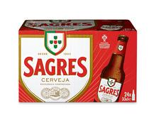 Sagres Bier, 24 x 33 cl